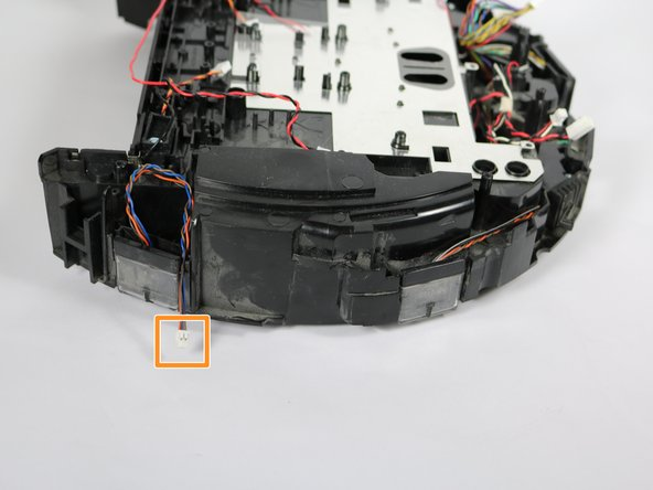 You might need to cut the tape that is currently holding several sets of bumper sensor wires together. It might be helpful to tape the new sensor wires back together when putting your device back together.