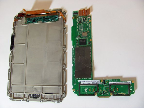 Gently pull the motherboard straight off of the back plate.