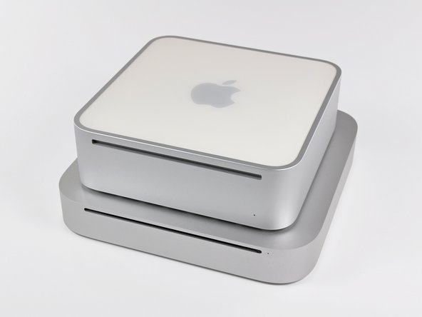 In comparison to the Mac Mini model A1176, the Mid 2010 is thinner and wider.