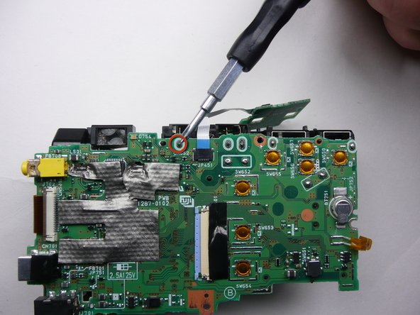 Be careful not to damage the circuit board or surrounding parts with the solder iron.