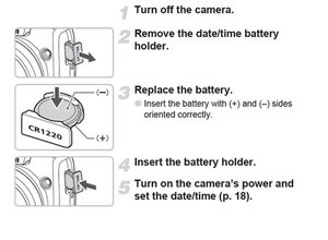 how to set date and time on canon powershot