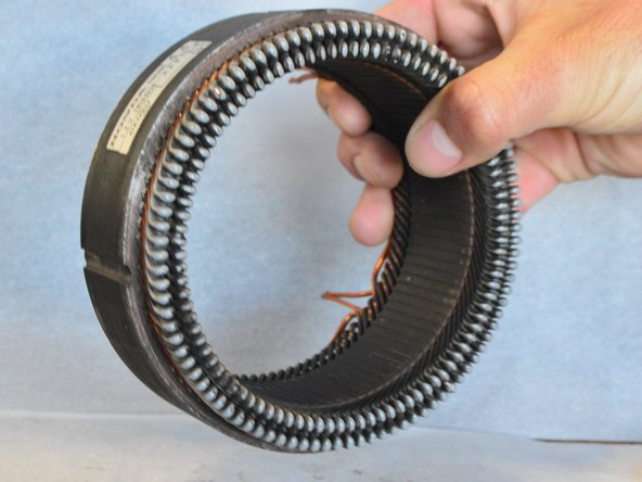 If the stator is scratched or damaged, you will need to replace it. Look for scoring marks or cut pieces of winding.