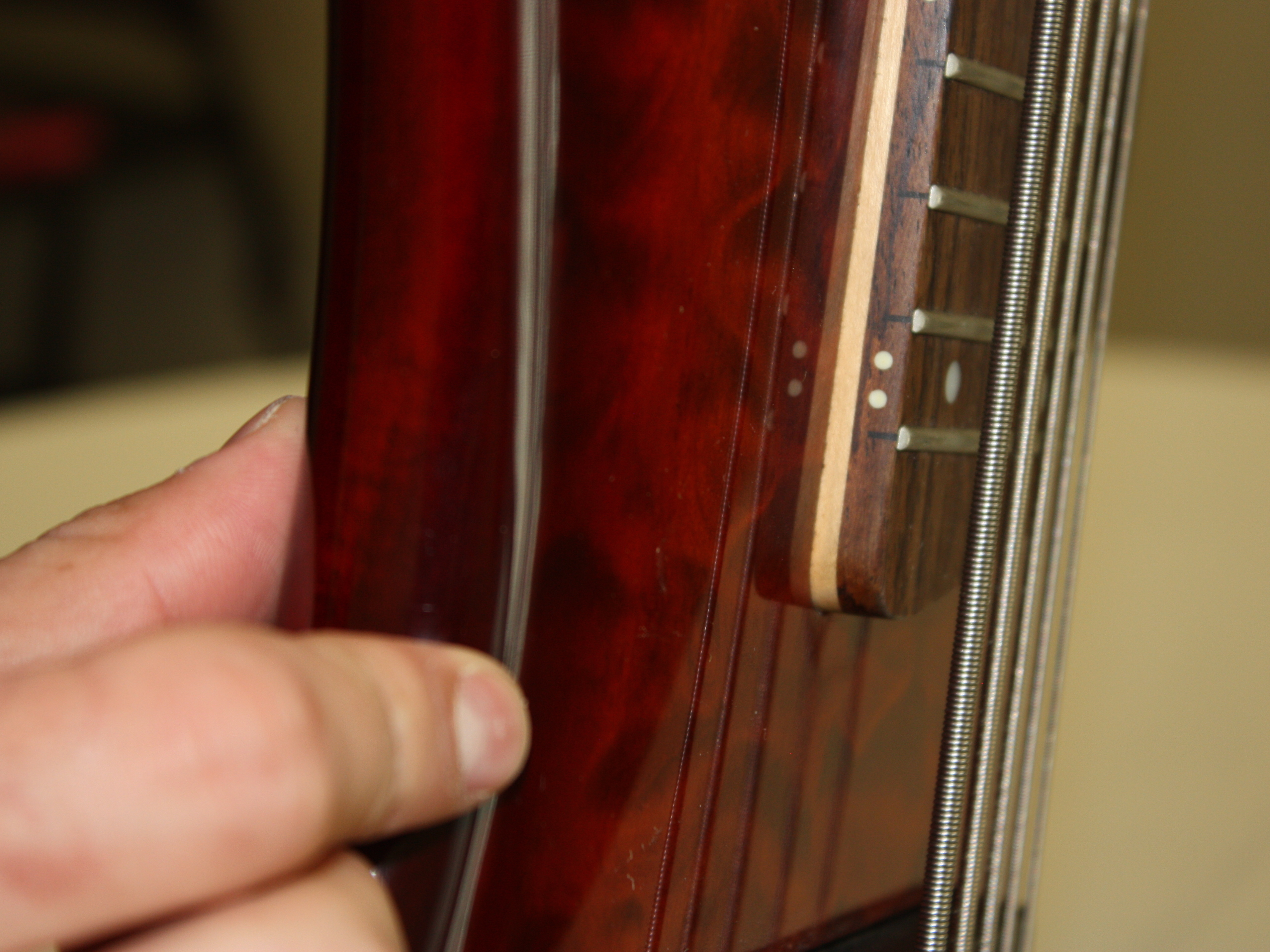 Ibanez 5 String Bass Model Sr405qm Repair Ifixit Input Jack Wiring Adjust The Action Height On