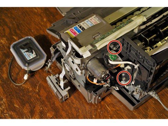 Remove right side screws.