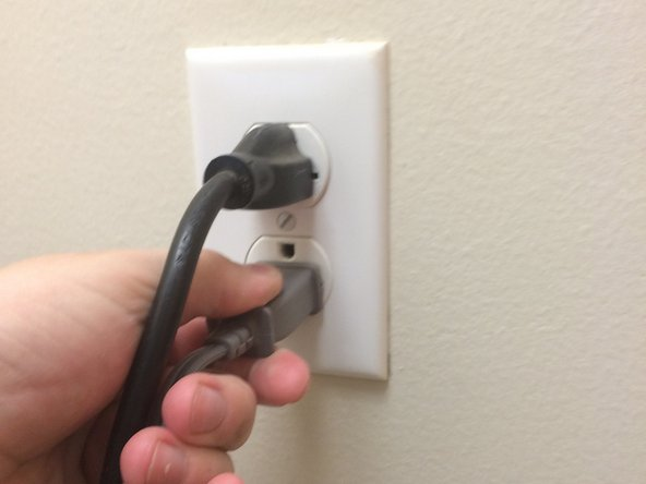 The first step is to make sure you unplug your fan from the outlet.