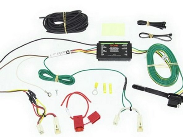 The Curt 56166 T-connector wiring kit comes everything I needed for this installation.