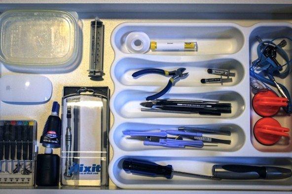 Tools in a drawer at Repair Genius