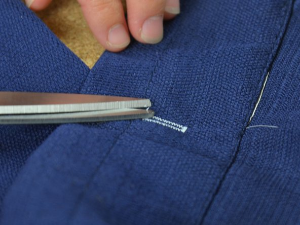 Clip any extra loose threads.