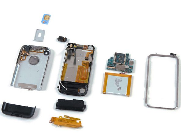 Image 1/1: The phone had about 16 screws total, unlike many iPods. The iPod Nano only has three screws.