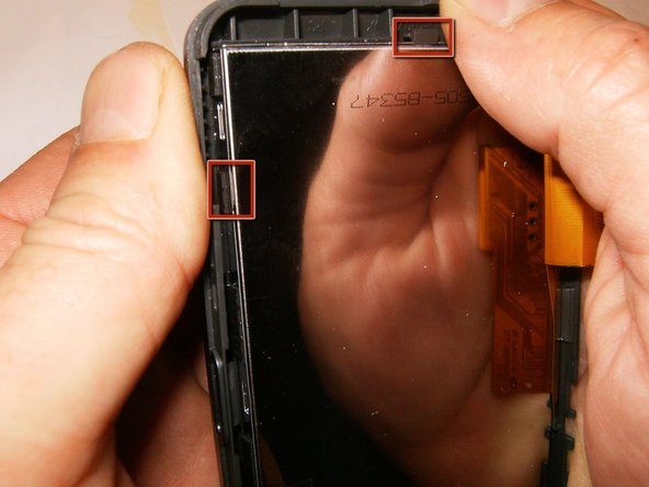 Image 1/3: Remove the LCD from the front bezel