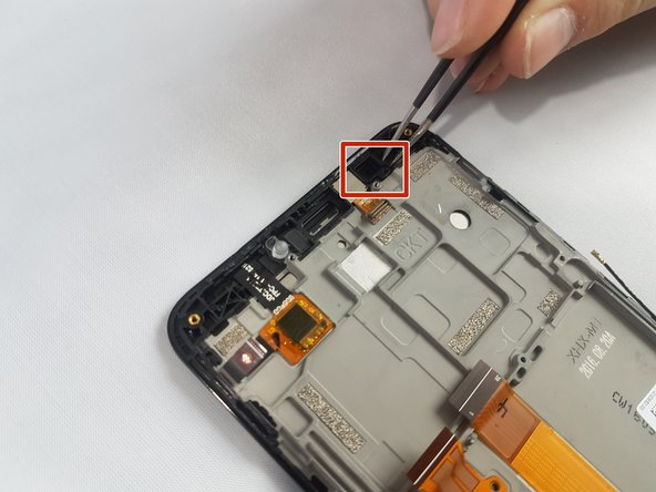 Remove the camera's rubber seal by lifting it out with a pair of tweezers; it should come out easily.