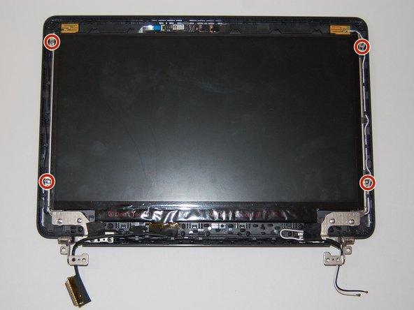 Remove the four 4.6mm screws from the display mounts using a Phillips #00 screwdriver.