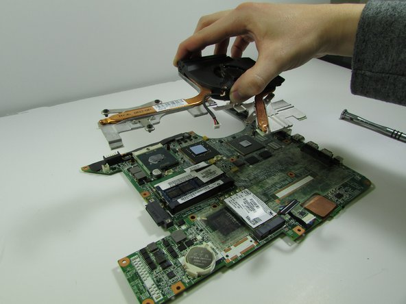 Remove heat sink.