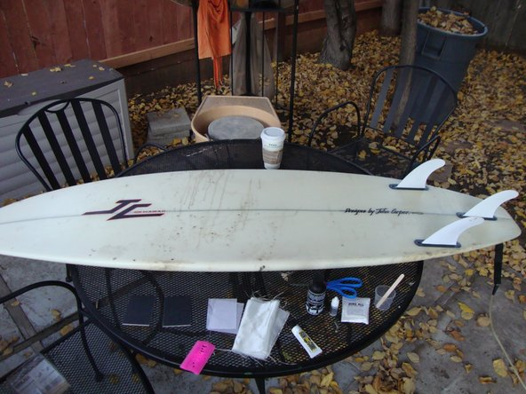Patching Surfboard Fiberglass