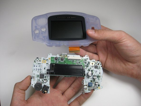 Game Boy Advance LCD Screen and Front Cover Replacement