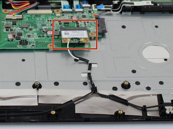 Remove the Wi-Fi card by pulling it from the motherboard socket.