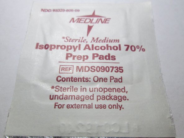 Wipe both contacts with force using an isopropyl alcohol wipe.