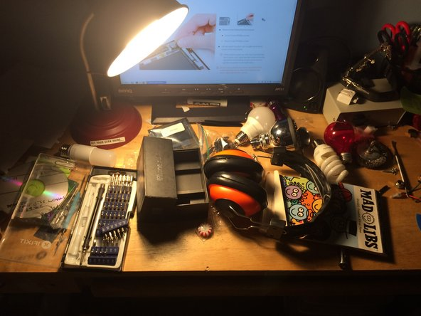 looks like my desk is a mess! Time to clean up!