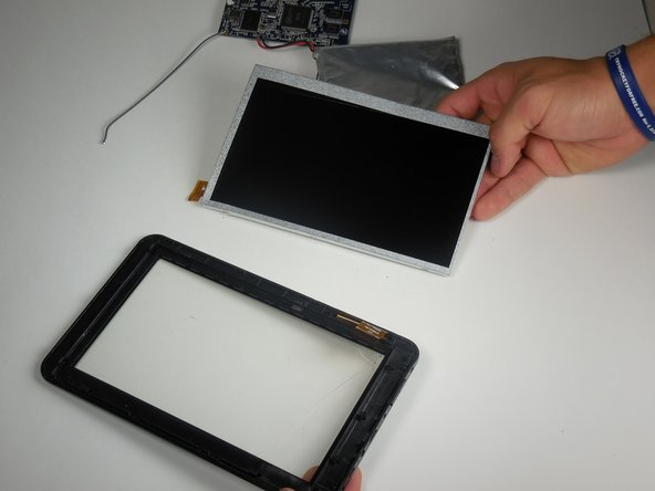 The metal screen assembly is two pieces. When removing the screen, make sure to pry off both pieces at once.