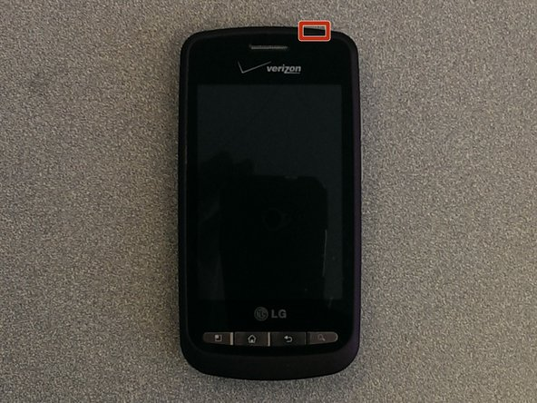 Image 1/1: The power button is located on top of the phone