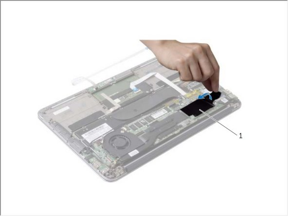 Peel the tape that is adhered over the solid-state drive.