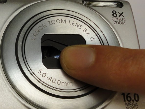 The first step for a lens error is to gently clean the leans with a clean cloth. If this does not work, then you proceed with the following steps.
