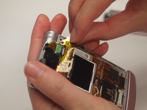 Use fingers to remove the strip from the device.