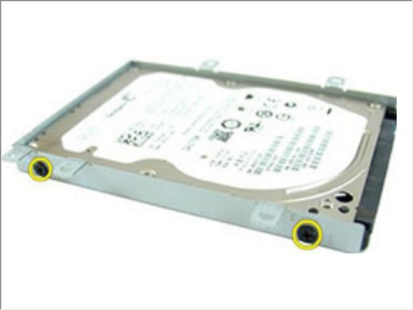 Remove the screws that secures the hard-drive bracket on the other side