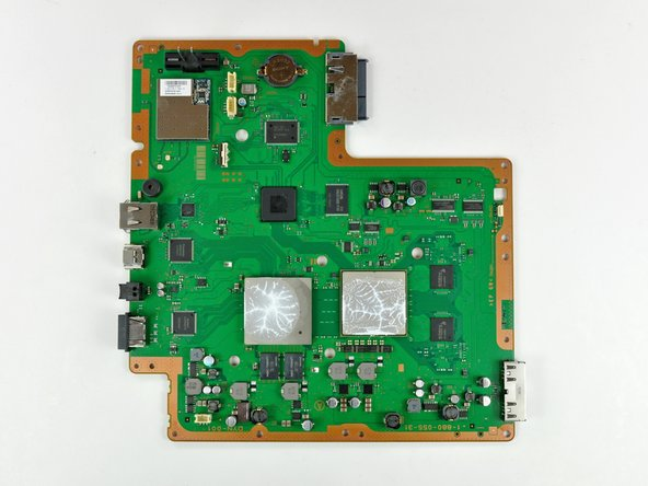 Image 1/2: The logic board. Sony's going green on the inside, to reflect their commitment to the environment. View [http://s1.guide-images.ifixit.com/igi/MuPTJIOYOSj5AxLl|HUGE version].