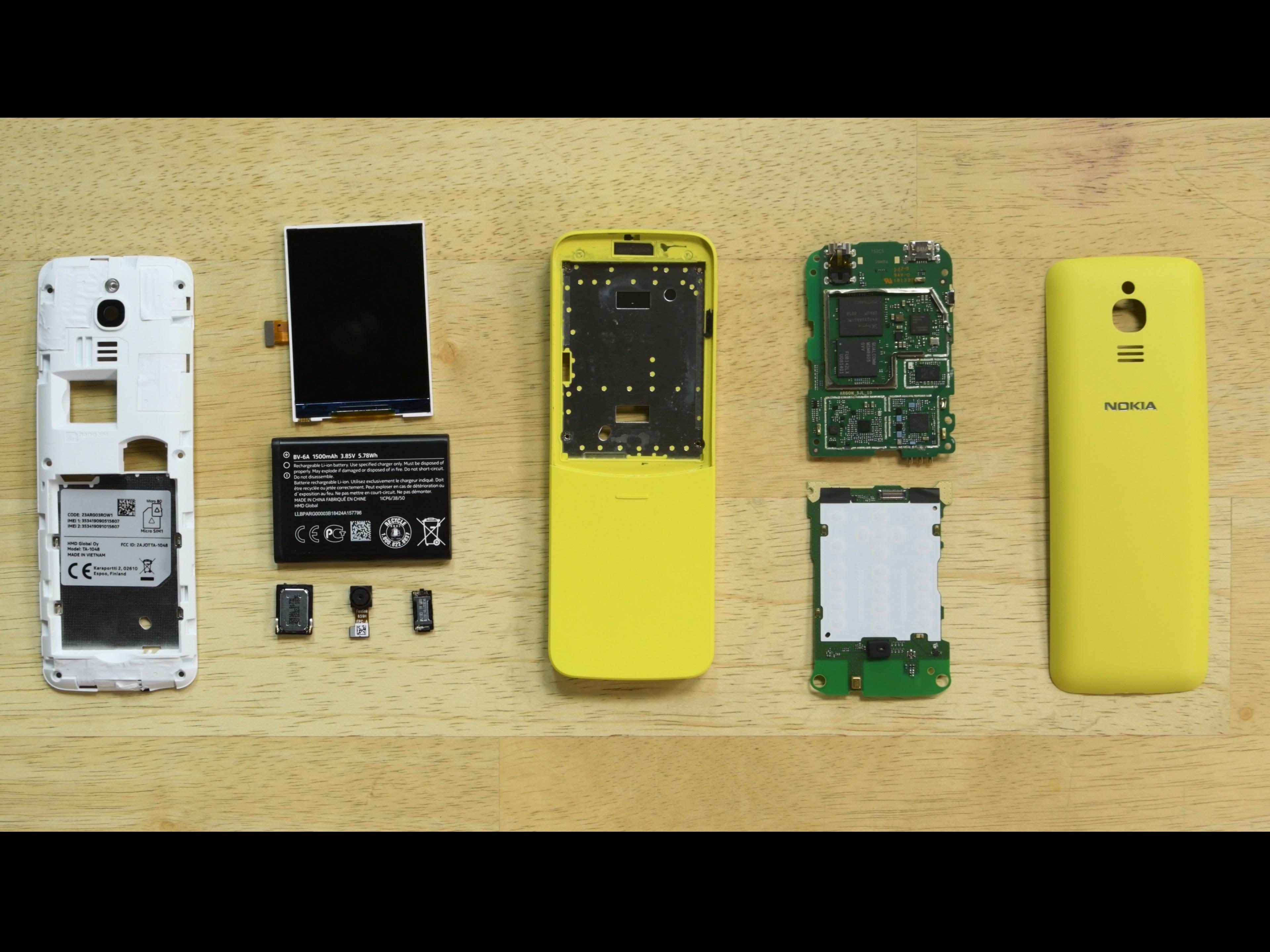 Nokia Banana Phone (Nokia 8110 4G) Teardown