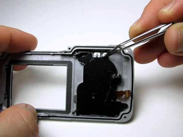Image 1/2: Peel back the black sticky film on the right side to reveal six screws.