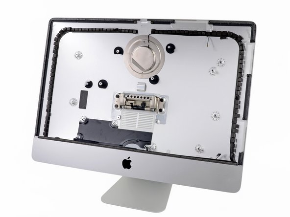 Though the rear case is the last piece we reach, it's where the design of the new iMac began.