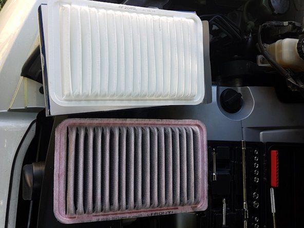Replace the filter and assemble in reverse order.
