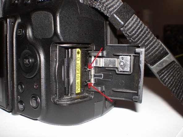 Nikon D5100/D3100 SD Memory Card Door Replacement
