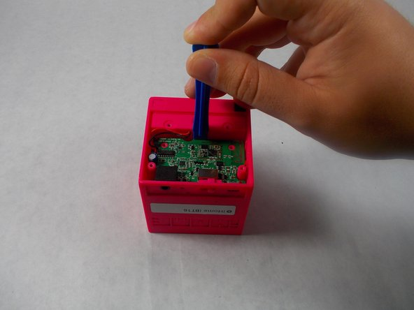 Image 1/1: Make sure to lift it out at an angle to the back, as the plastic power switch is attached to the board and can be broken