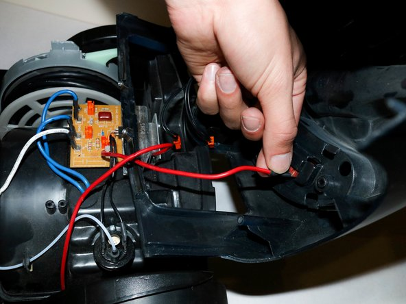 Make sure not to wiggle the wires, as that may break the metal holding them.