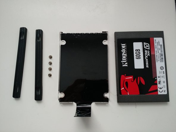 You're done! To reassemble, place a new drive in the bracket and follow the steps in the reverse order.