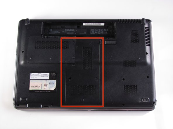 Remove cover and expose the memory module by lifting the cover up like its on a hinge.