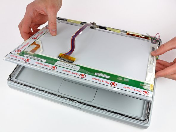 Lift the LCD out of the display assembly.