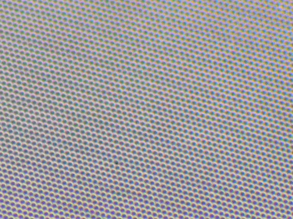 Image 3/3: And because we know you can't see those subpixels we've included a magnified view of the OLED panel. Although there is only an 18% increase in pixel density, the pixels on the headset display seem tiny due to its unique subpixel matrix.
