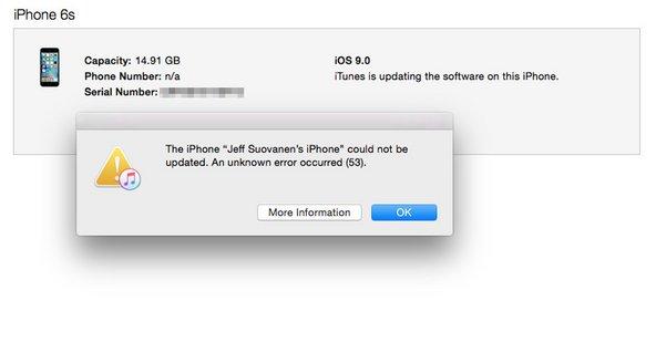 iPhone 6S error 53