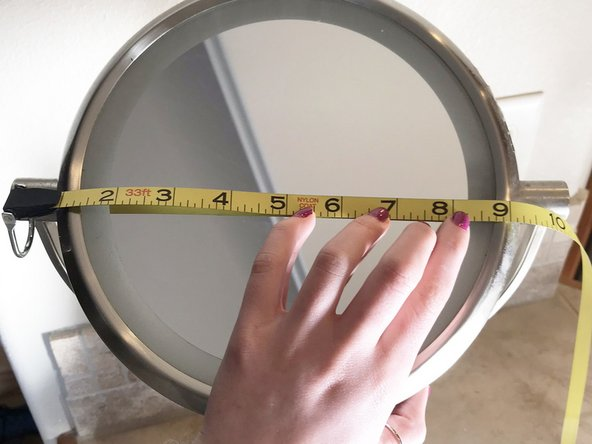 Measure the length of the mirror for purchasing a new replacement part.