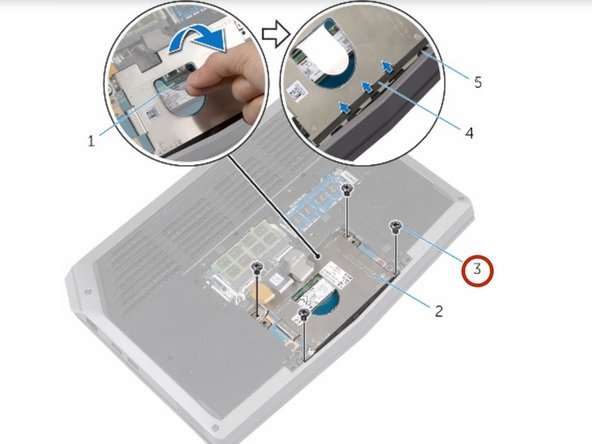 Remove the screws that secure the solid-state drive bracket to the solid-state drive assembly.