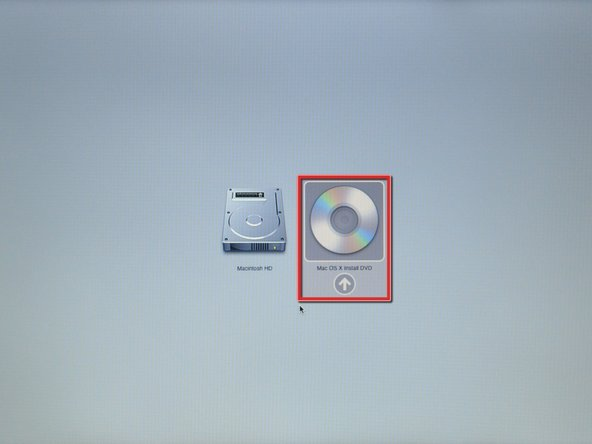 Insert a Mac OS X v10.5 Leopard installation disc into your optical drive.