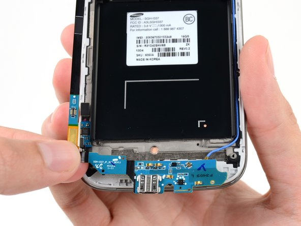 Image 1/1: Remove the USB board from the display assembly.