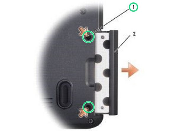 Replace the two screws to secure the hard drive.