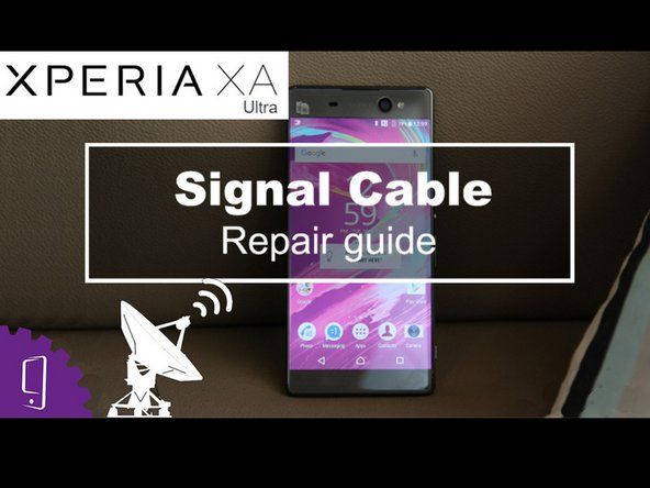 Sony Xperia Xa Ultra Antenna Replacement Ifixit Repair Guide