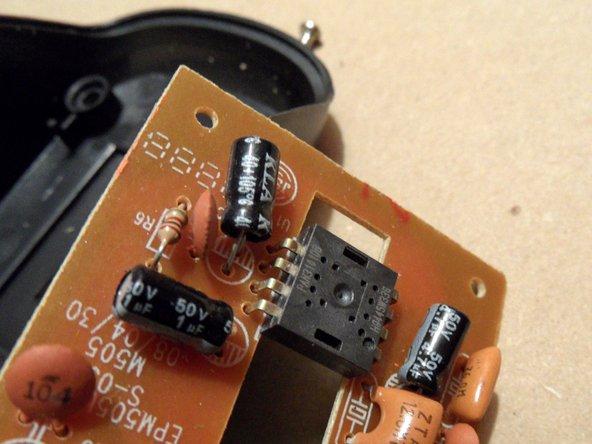 Un codeur rotatif mécanique (de la roue de la souris)