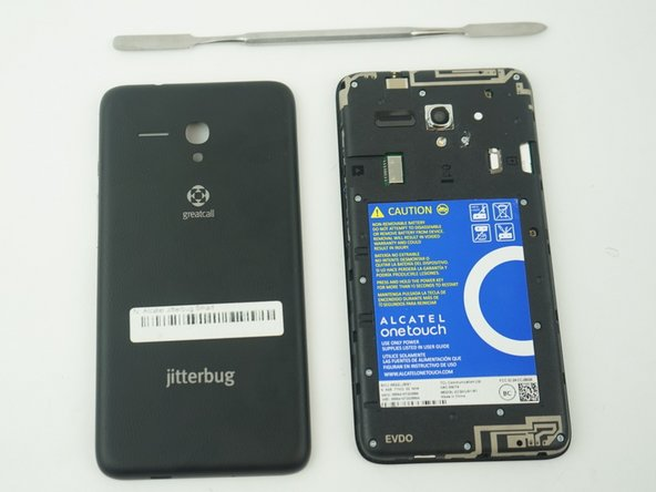 Lift open case by the corner nearest the divot and remove it from the phone.