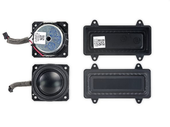 These little 1.5-inch drivers each pair with a larger passive radiator to improve lower end frequency response without additional large drivers or a base response tube.